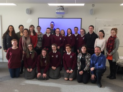 Development Education TY students working with Maynooth University