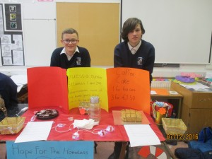 trade fair cake and fundraising