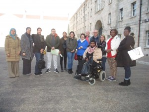 Group outside the Museum