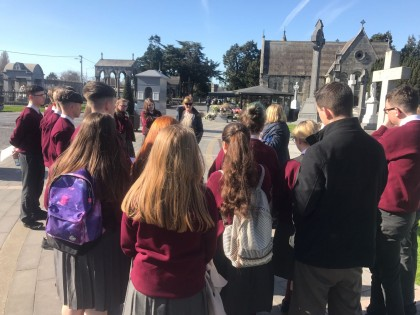Glasnevin Cemetery- Transition Year Students act as Tour Guides