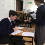 collecting the ballot paper