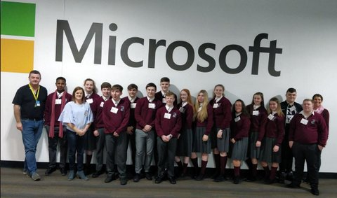 Transition year Accountants visit Microsoft Data Centre