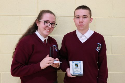 Nadine Church and Lee Barrett, Fifth Year Overall winners