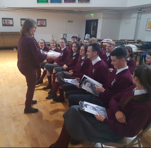 Ms O`Mahony with her students
