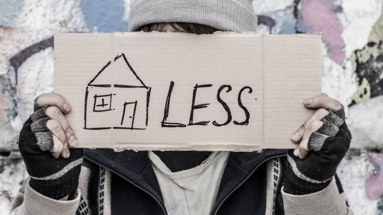 There were 10,264 people homeless in the week of February 18th-24th 2019 across Ireland.
