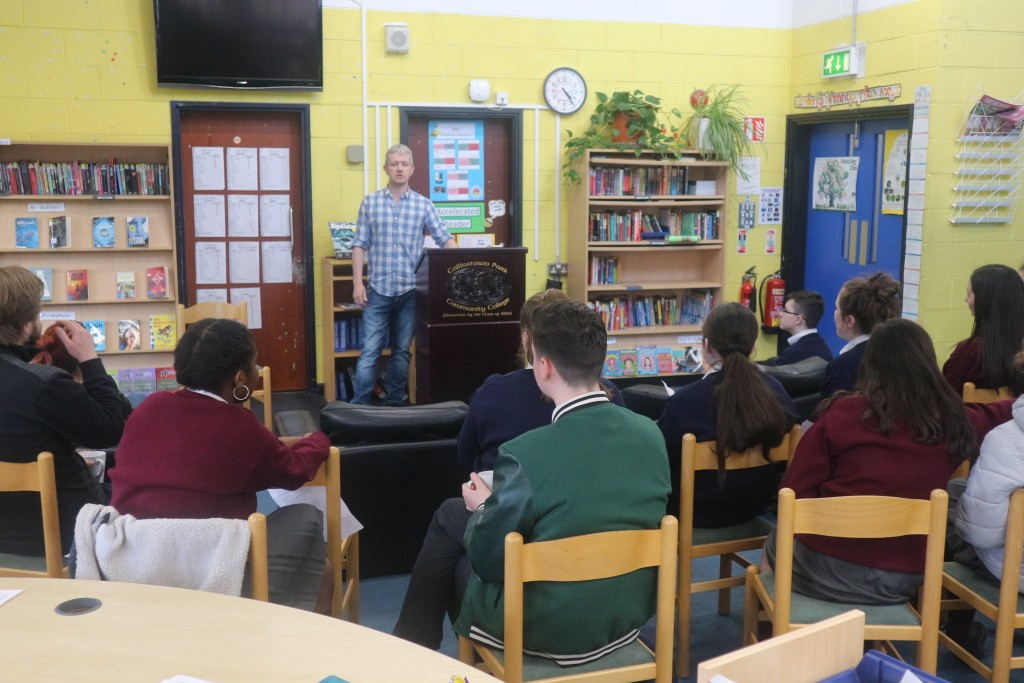 Colm introduces the Poetry Slam