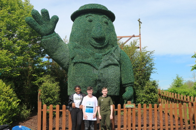 Students who qualified for the award visited Tayto Park