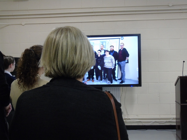 The first showing of the video describing the idea and the development of the Data Centre