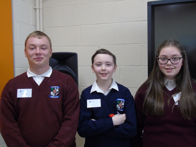 Representatives of the second level students of Collinstown Park CC at the launch
