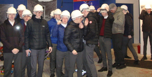 Students had to comply with Health and Safety regulations including hairnets and hard hats
